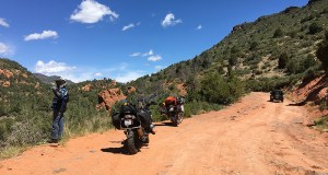Schnebly Hill Road is not for the faint of heart or those with limited experience with big bikes off-road. It does, however, offer some of the best views of Sedona. Because of this, it can be crowded with tourists in Jeeps, so it's best to take it slow and easy, and take plenty of breaks for water and photos!