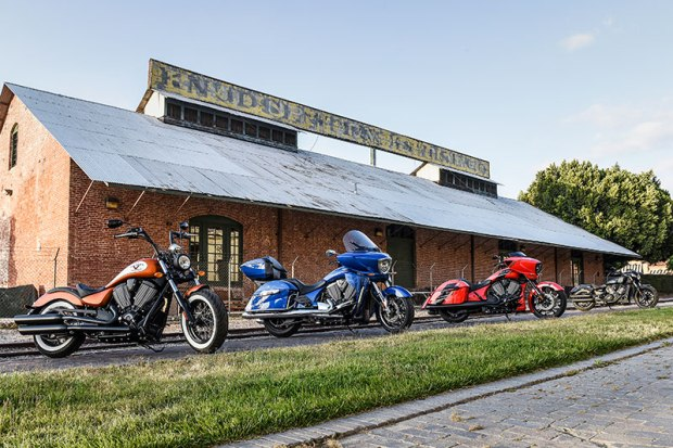 A few bikes from Victory Motorcycles' 2017 lineup, which includes cruisers, baggers, tourers and an electric bike.