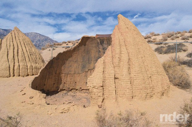 The 1873 Cottonwood Charcoal Kilns were built to supply charcoal to local smelters. Kilns used to be on the Owens Lake shoreline, providing easy boat transport, but are high and dry since Los Angeles took the Owens Valley water long ago.