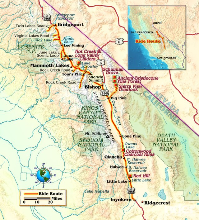 Map of the route taken, by Bill Tipton/compartmaps.com.
