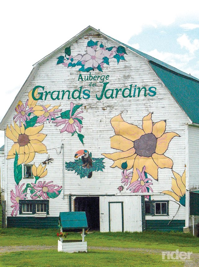 Auberge des Grands Jardins is an amazing chef-owned B&B farm near Compton.