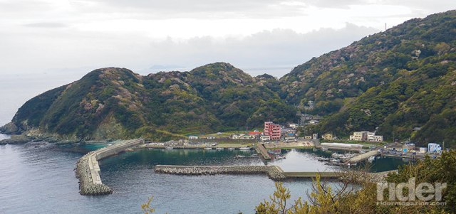 The tiny fishing village of Misaki, a stone's throw from the westernmost tip of Shikoku. After ferrying over from the easternmost tip of Kyushu, that pink building served up all of the charm of a traditional traveler's ryokan, including a multi-course dinner, communal onsen bathing and futon beds on tatami floors.