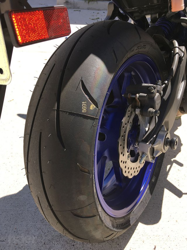 Although the stock Michelin Pilot Road 3 tires on my FZ-07 still had plenty of life left in them, I opted to swap them out for a set of Dunlop Qualifier 3s. While the Pilot Roads are perfect for commuting and the occasional spin up the canyons, the Q3s are stickier—at the expense of mileage. Since the Pilot Roads are still in great shape, I can swap back to them when the Q3s wear out.