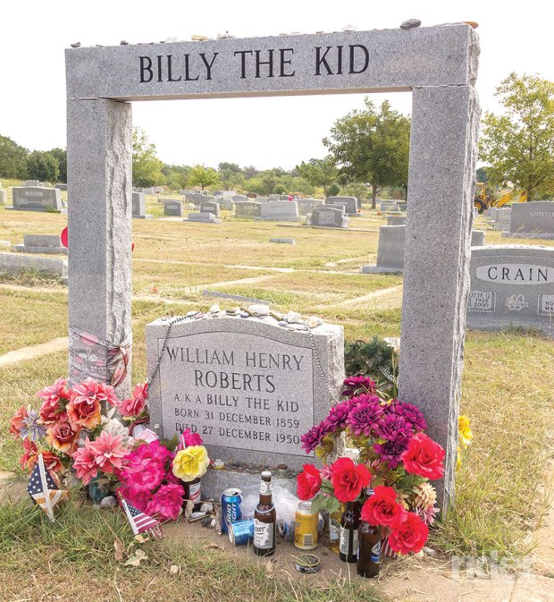 "Just who lies here, ""Brushy Bill"" or The Kid? One or the other's grave is in Hamilton, Texas."
