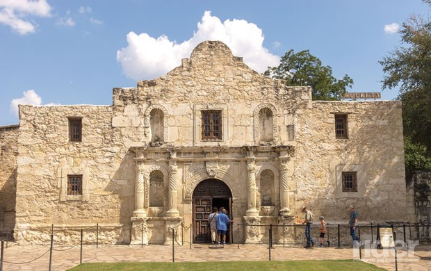 A Texas shrine, the Alamo, remains ever stalwart in downtown San Antonio.
