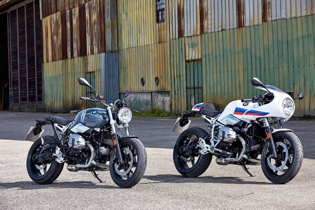 Joining the original R nineT and R nineT Scrambler in BMW's Heritage line are two new models: the R nineT Pure (left) and R nineT Racer (right).