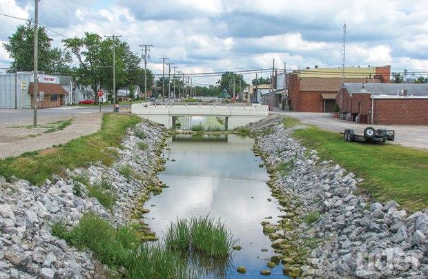 The canal runs through Spencerville, Ohio.