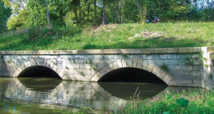 Culvert built to allow canal to flow over Bad Creek, at Texas, Ohio.