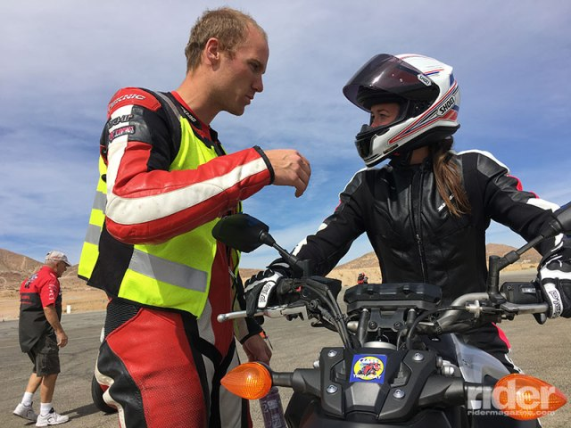 Instructors followed us around the track, then gave us individual feedback and suggestions.