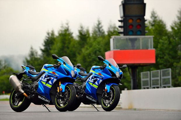 For 2017, Suzuki's flagship sportbike will be offered in three versions: GSX-R1000, GSX-R1000 ABS and GSX-R1000R. The two ABS models are shown.