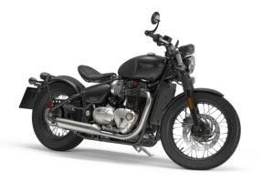 2017 Triumph Bonneville Bobber in Jet Black