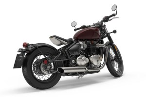 2017 Triumph Bonneville Bobber in Morello Red