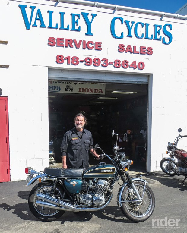 Winter opened Valley Cycles in Van Nuys in 1978. Today it's located behind Wheels in Motion Yamaha in Chatsworth.