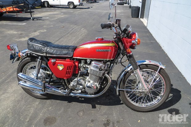 Winter rides his personal 1970 Honda CB750 Four regularly. It was on display in the Petersen Museum for several years.