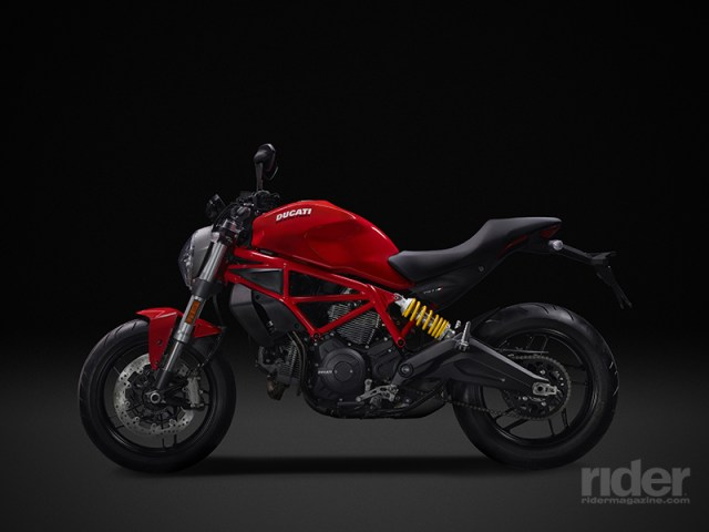 In addition to the popular Star White Silk color, the Monster 797 is also available in classic Ducati Red.