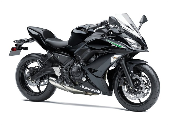 2017 Kawasaki Ninja 650 in Metallic Spark Black.