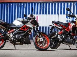 2017 Aprilia Shiver 900 and Dorsoduro 900