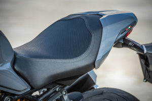 The Ducati Monster 1200 S has a narrower, shorter tail section with a removable passenger seat cover.