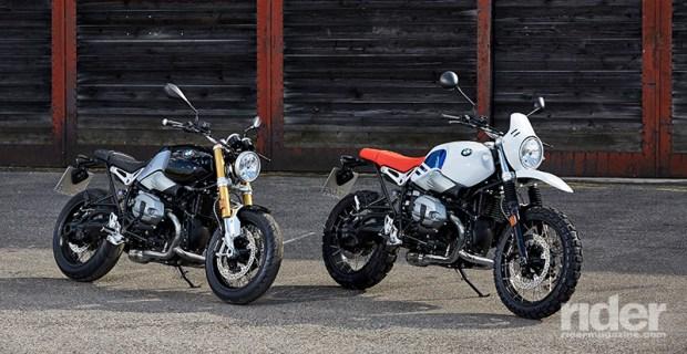 The 2017 BMW R nineT (left) and R nineT Urban G/S. (Photos: BMW)