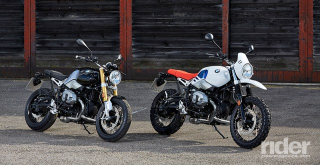 The 2017 BMW R nineT (left) and R nineT Urban G/S. (Photos: BMW)