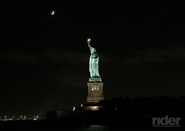 The highlight of the cruise was our pass by the Statue of Liberty. It's impossible not to be touched by the gravity of what the sight of Lady Liberty must have meant to immigrants as they arrived in New York Harbor. (Photo: the author)
