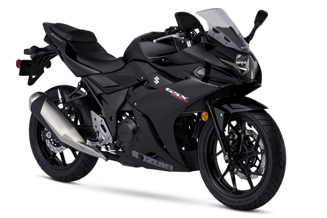 The Suzuki GSX250R comes in Pearl Glacier Nebular White or Pearl Nebular Black.
