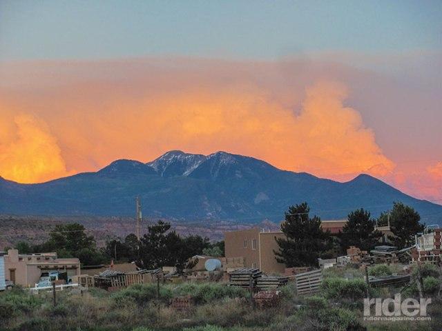 Fiery sunset near Moab, Utah