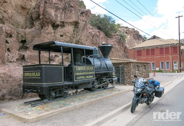 In Clifton is this little narrow-gauge steam engine, called the Copper Head, which was one of the early ways of transporting copper from the mines to the smelter.