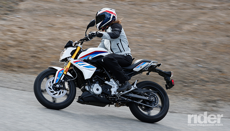 2018 bmw g 310 r first ride review rider magazine. Black Bedroom Furniture Sets. Home Design Ideas