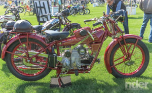 Anybody looking for a sporting big single in 1929 could have chosen this Moto Guzzi Sport 500, with a neat little box on the gas tank to hold those metric tools.
