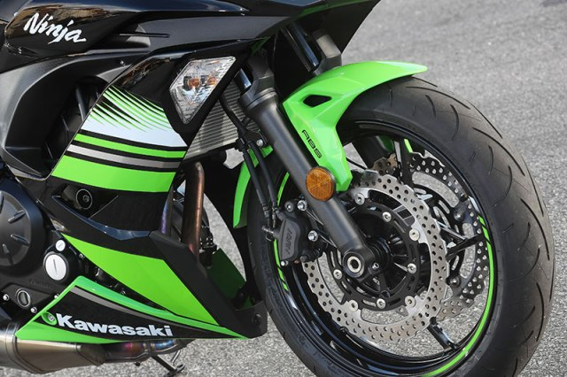 2017 Kawasaki Ninja 650 front wheel and ABS