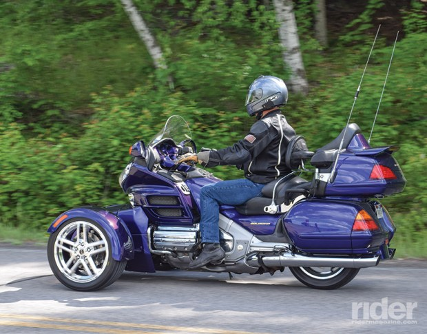 The Prowler RT feels immediately familiar because, well, it is. Built directly onto the Honda Gold Wing platform with no alterations, the rider feels  right at home.