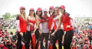 The famous Ducati Fashion Models at Ducati Island.