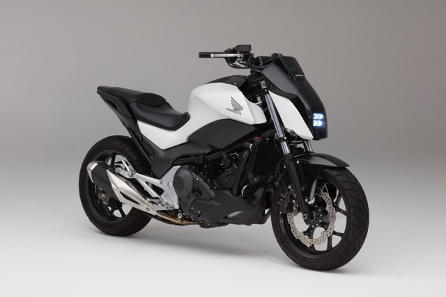 Honda Riding Assist self-balancing concept bike. (Photo courtesy of Honda)