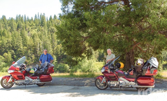 The State of Jefferson Scenic Byway attracts motorcyclists from around the region. These two hail from the Reno/Sparks area of Nevada, and take a riding vacation each summer to travel the motorcycle-friendly roads of Jefferson.