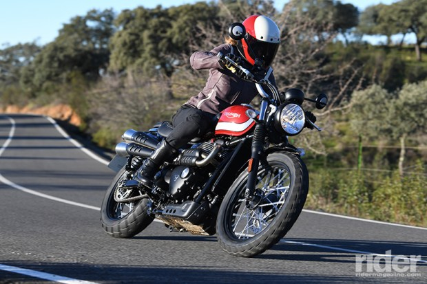 With a punchy new engine and more compact size, the new Street Scrambler excels in the twisties.