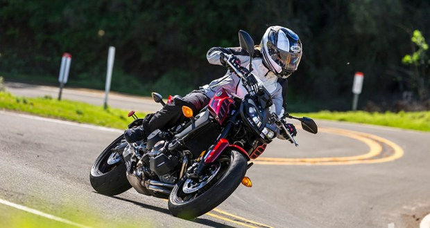 "The ""bang-for-the-buck"" king is better than ever, with a host of upgrades that improve performance and rideability, and sharp, aggressive new styling befitting its sporting nature. (Photos by Garth Milan and Triumph Motorcycles)"