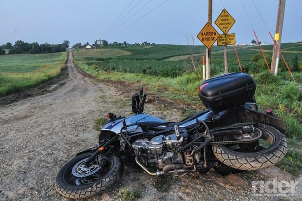 Things head south near West Branch, Iowa.