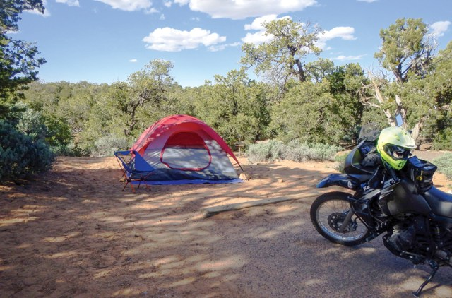 Touring on a KLR650