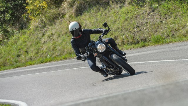 The Cafe Racer proved to be nimble and easy to handle on the technical mountain roads.