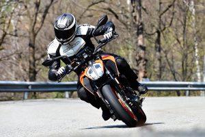 KTM 390 Duke action