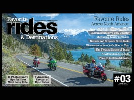 Favorite Rides and Destinations #3, Spring 2017, Cover