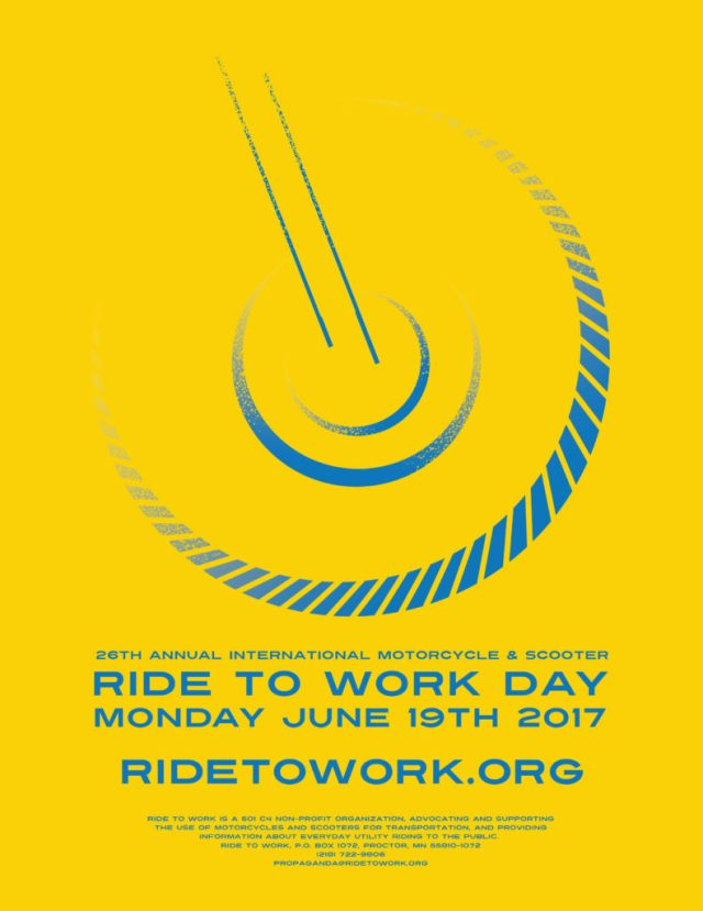 Ride to Work Day 2017 poster