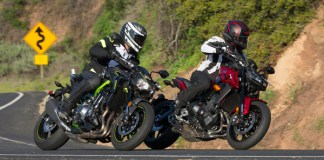 Z900 FZ09 Comparison Test Review