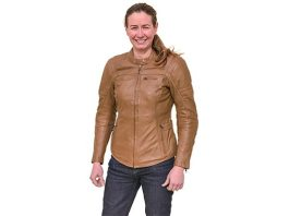 Cortech Bella women's leather jacket in Vintage Brown.