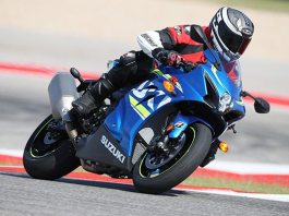 2017 Suzuki GSX-R1000 on the track at Circuit of the Americas