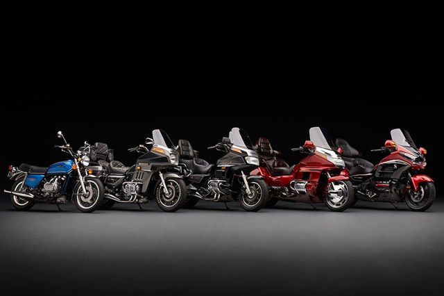 40 years and five generations of the Honda Gold Wing: GL1000, GL1100, GL1200, GL1500 and GL1800.
