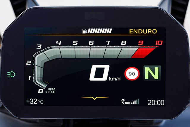 2018 BMW F 750 GS F 850 GS TFT display