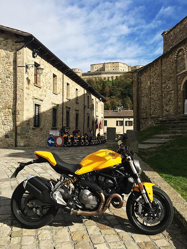 2018 Ducati Monster 821 in San Leo, Italy