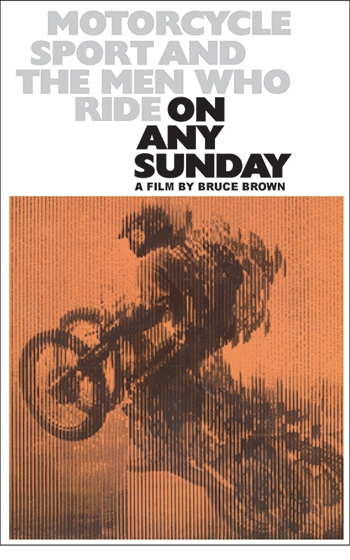 "Movie poster for Bruce Brown's 1971 documentary, ""On Any Sunday."""